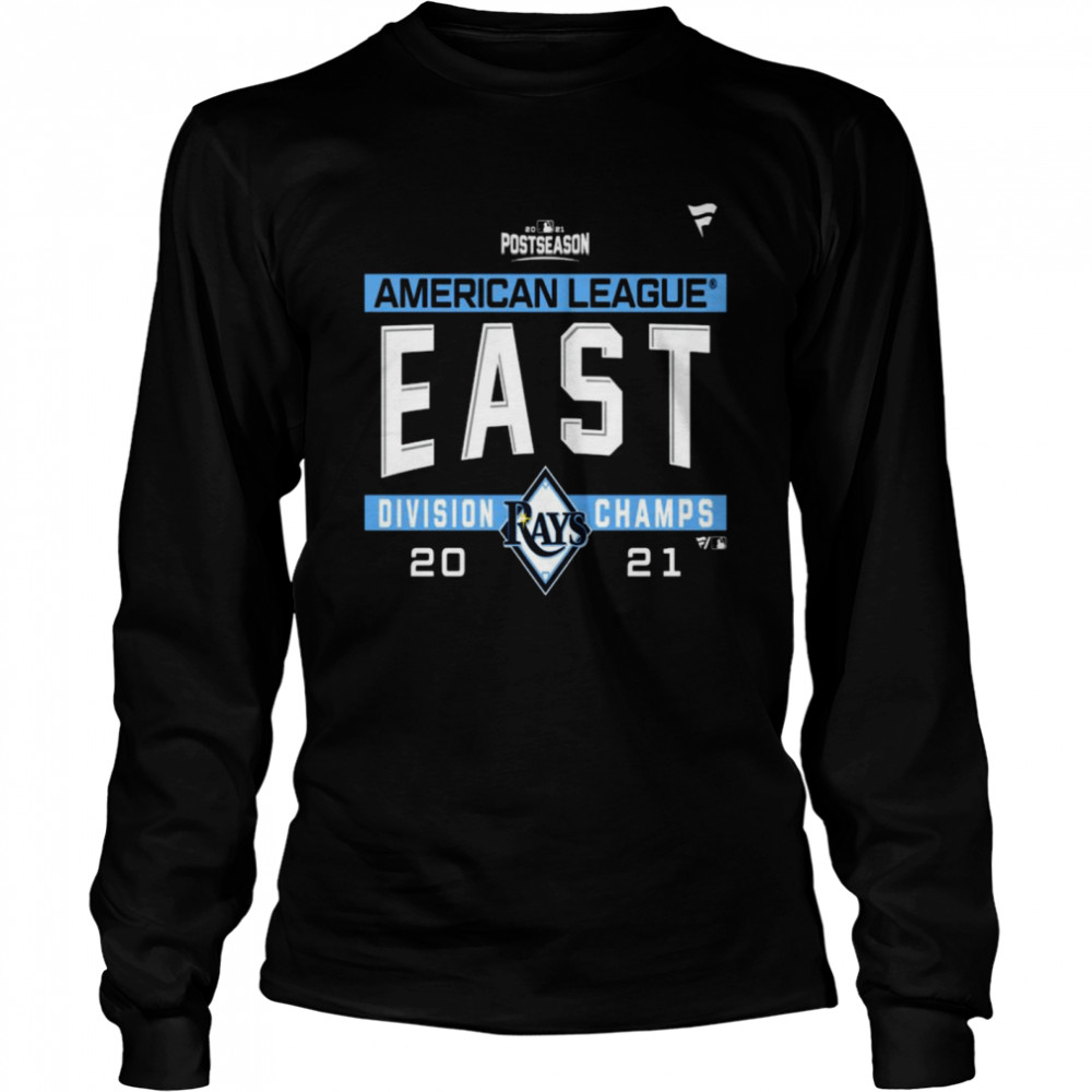 Tampa Bay Rays American League AL East Division Champions 2021 sport shirt Long Sleeved T-shirt