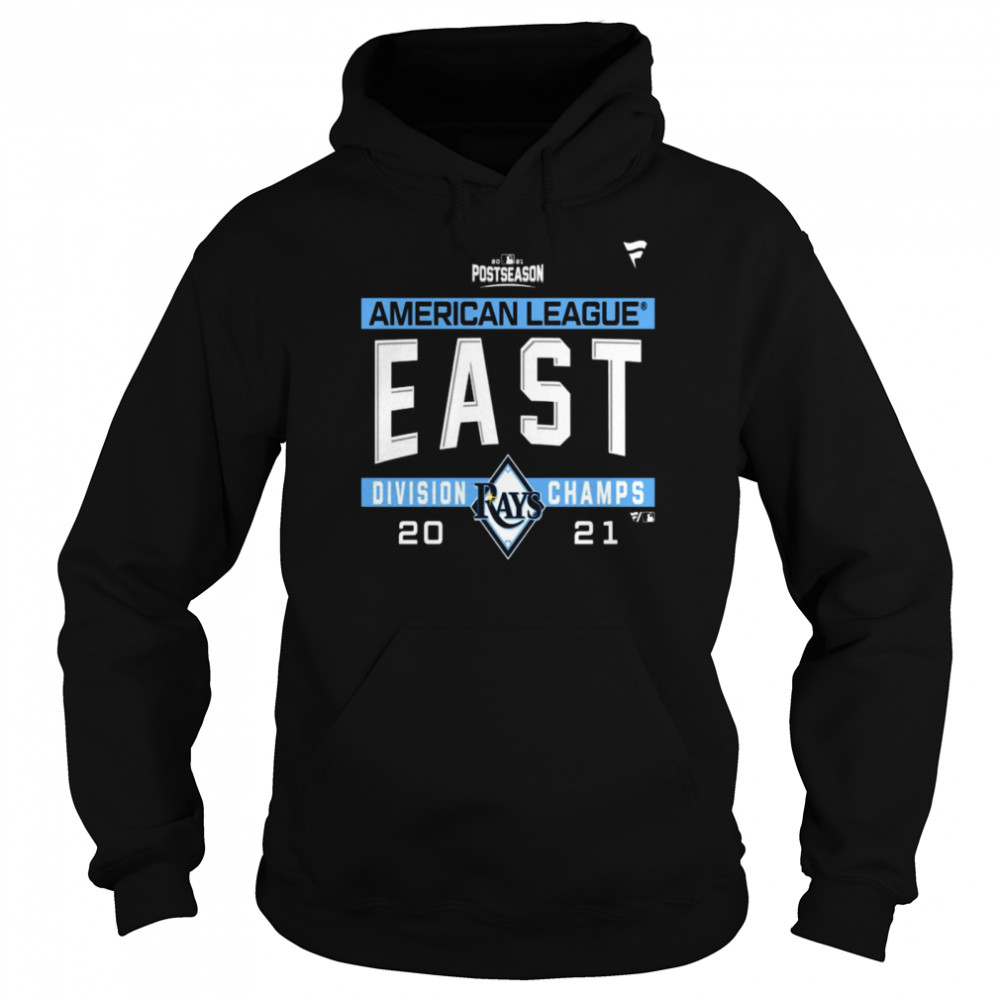 Tampa Bay Rays American League AL East Division Champions 2021 sport shirt Unisex Hoodie