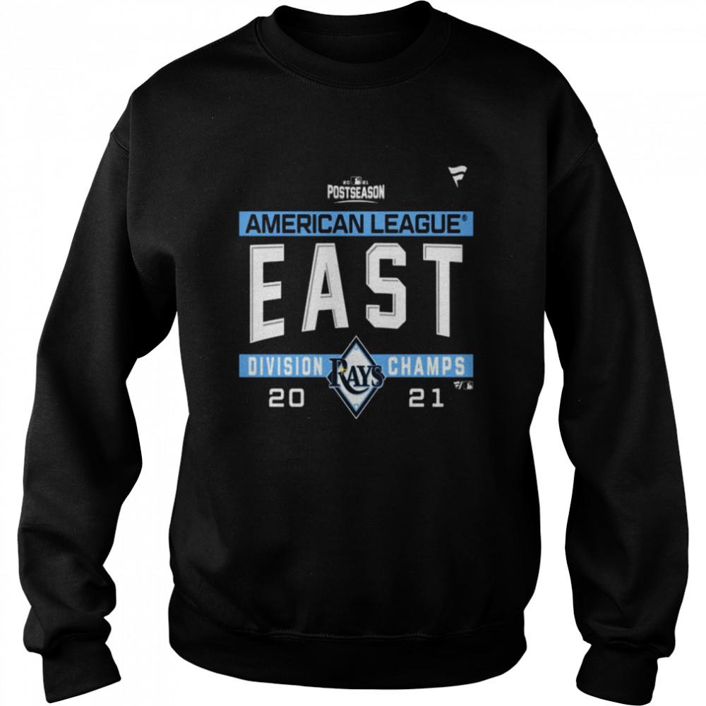 Tampa Bay Rays American League AL East Division Champions 2021 sport shirt Unisex Sweatshirt