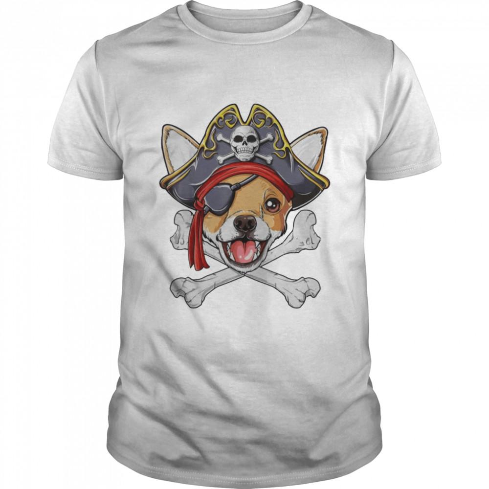 Chihuahua Pirate Costume Jolly Roger Flag Skull Crossbones shirt