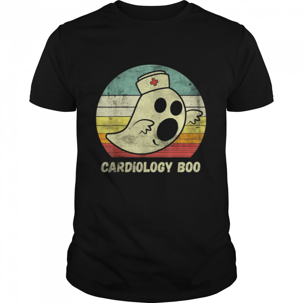 Halloween Ghost Cardiology Boo Nurse Nursing Medical shirt