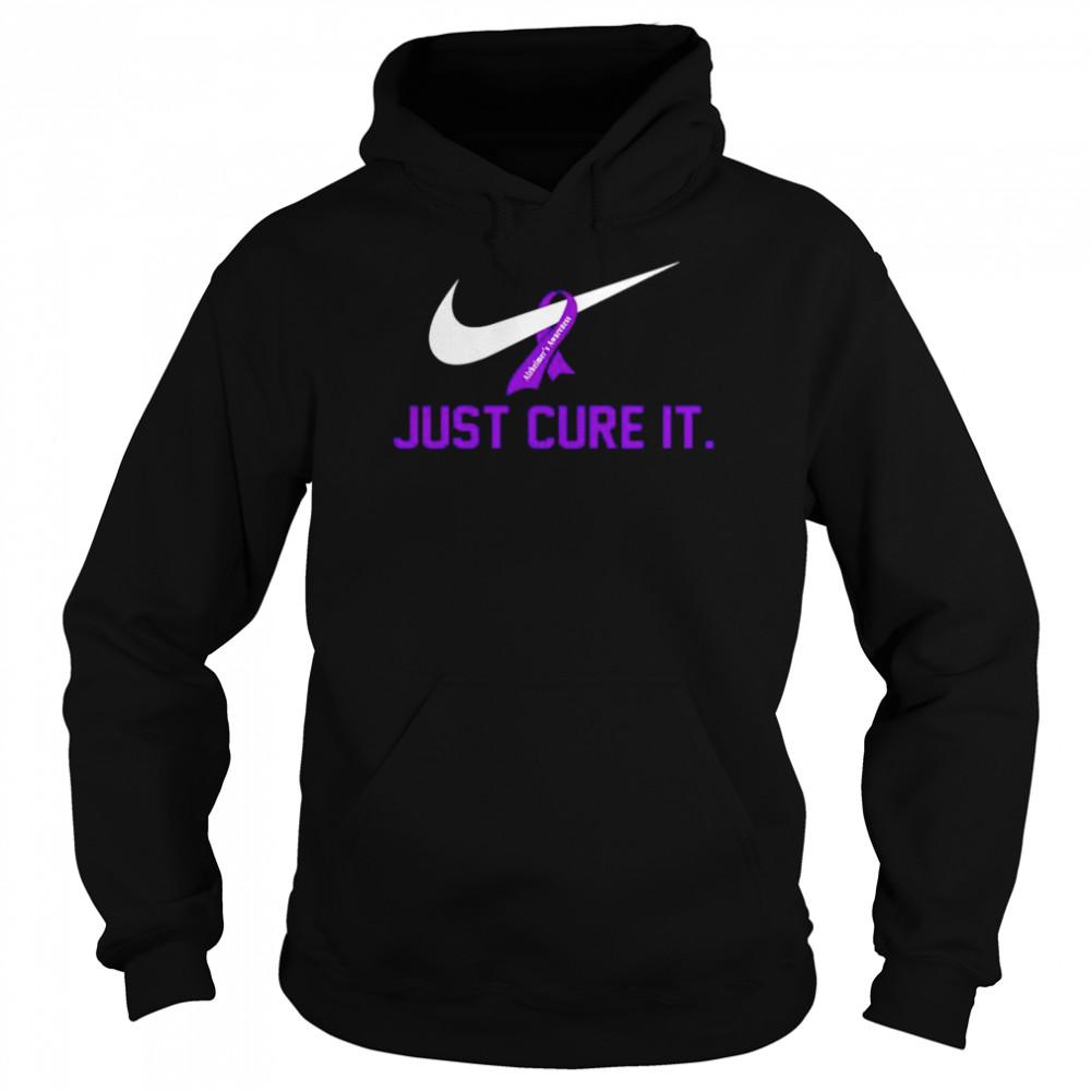 Alzheimer's Awareness just cure it shirt Unisex Hoodie
