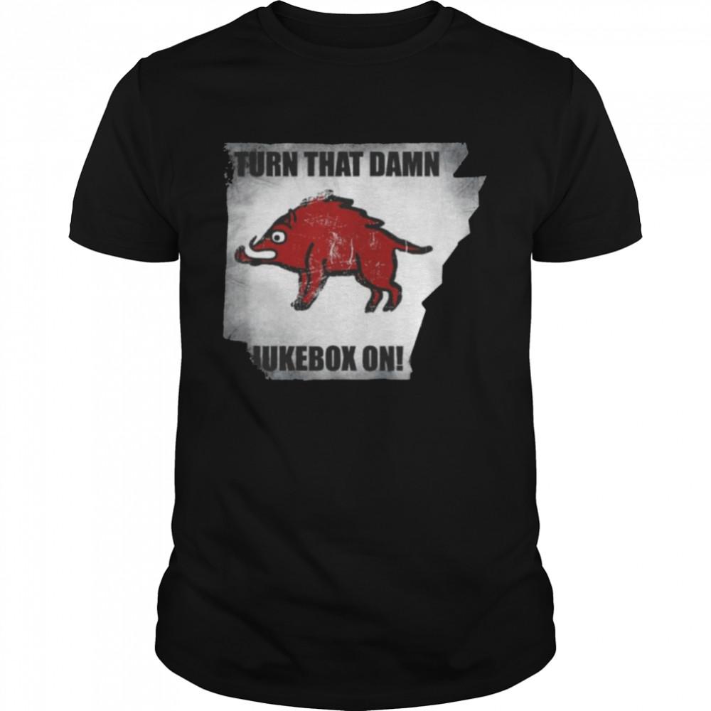 Distressed Turn that Damn Jukebox On Tee Shirt