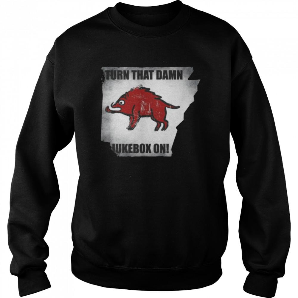 Distressed Turn that Damn Jukebox On Tee  Unisex Sweatshirt