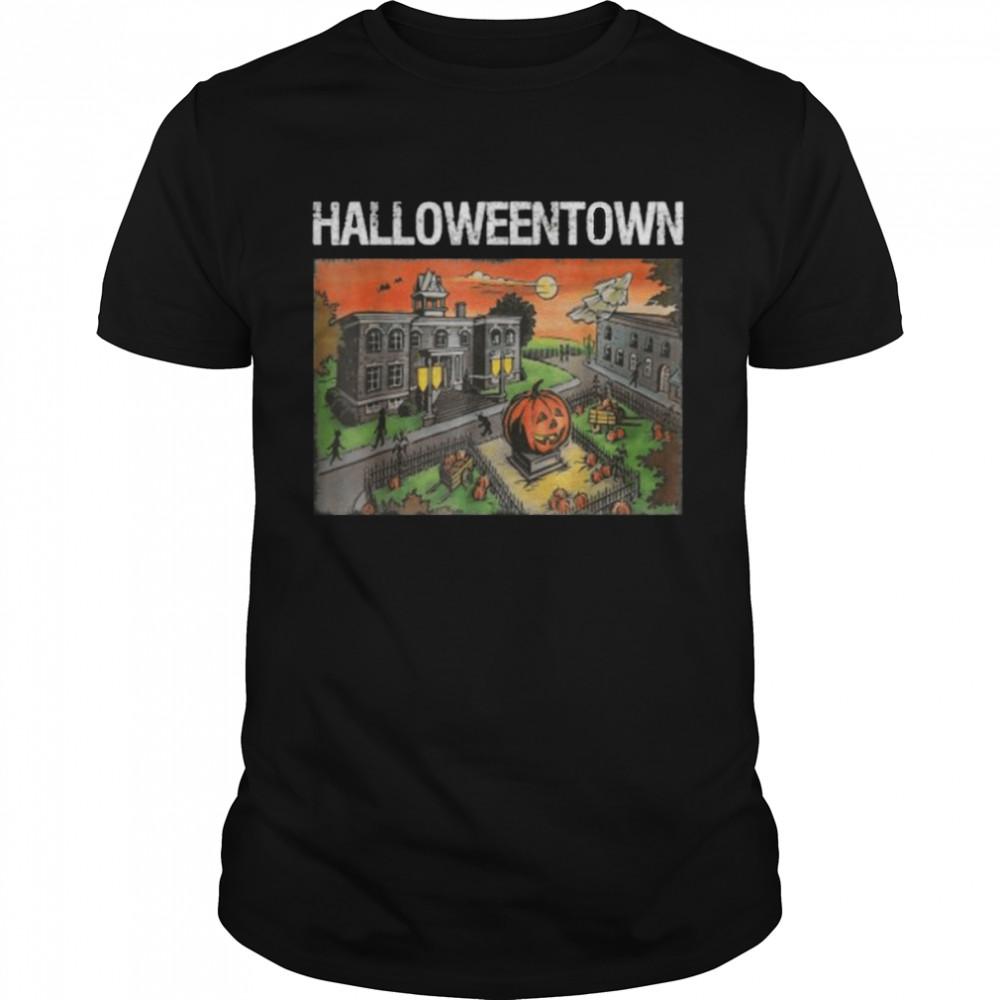 Halloween Town in University Pumpkin And Ghost T-Shirt