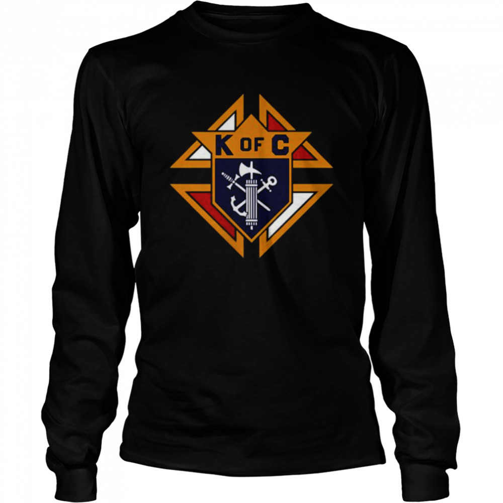 K of C Graphic Knights Of Columbus in Front Of Chest in My Heart T- Long Sleeved T-shirt