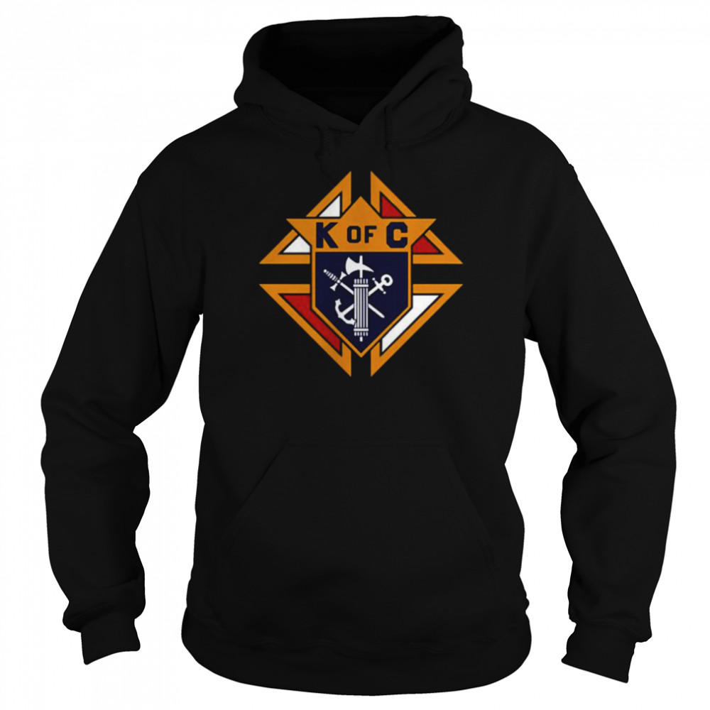 K of C Graphic Knights Of Columbus in Front Of Chest in My Heart T- Unisex Hoodie