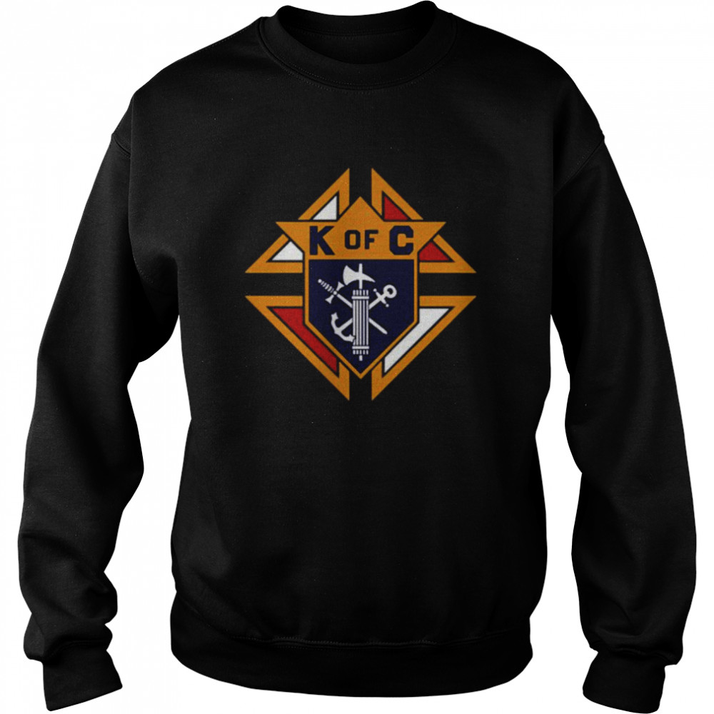 K of C Graphic Knights Of Columbus in Front Of Chest in My Heart T- Unisex Sweatshirt