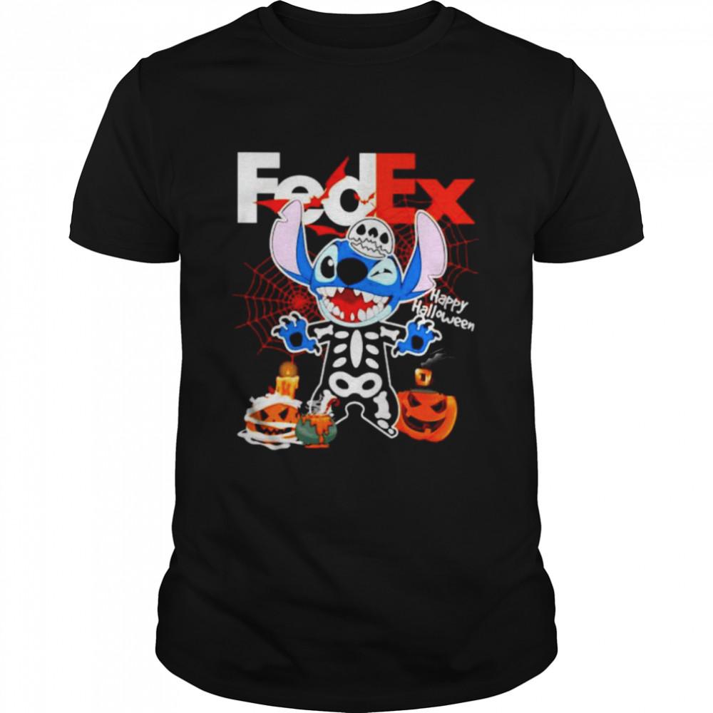 Skeleton Stitch FedEx happy Halloween shirt