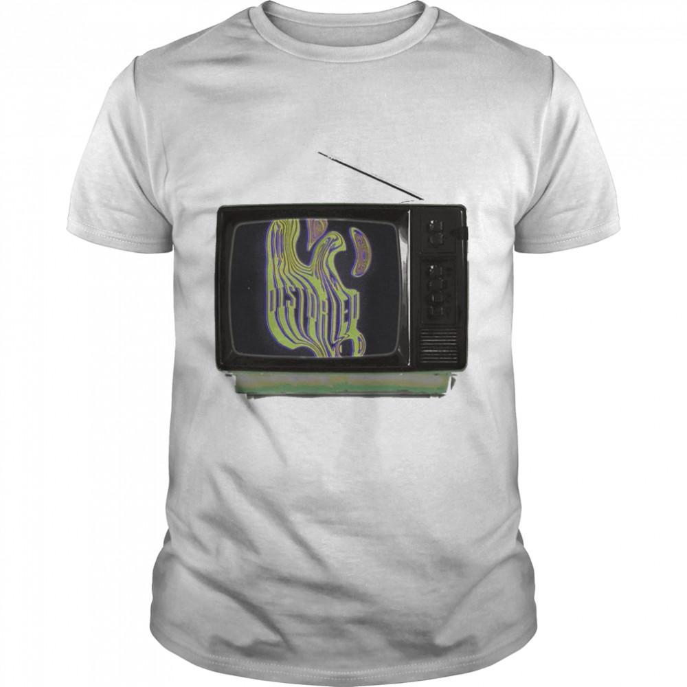 Distorted TV design nice shirt