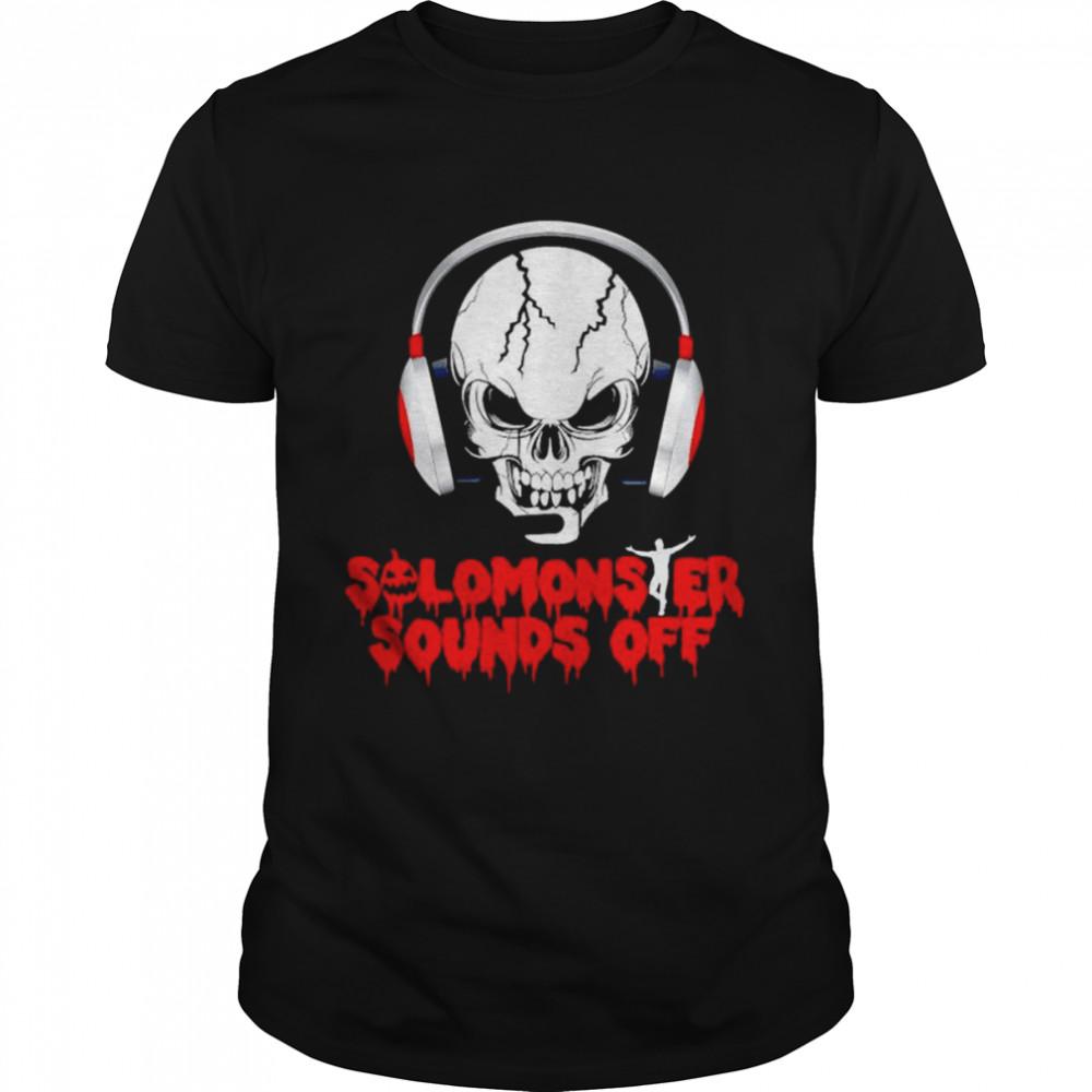 Solomonster Sounds Off Skull Halloween Charcoal shirt