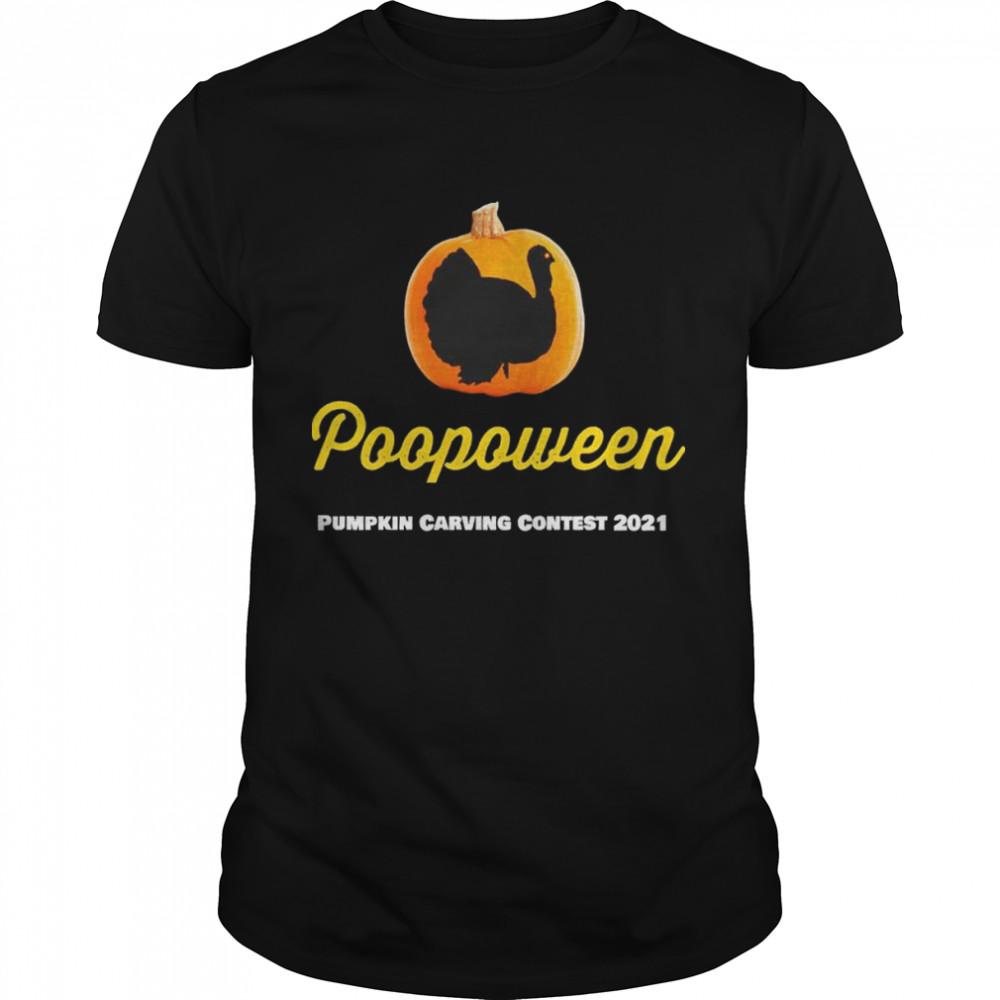 Poopoween Pumpkin carving contest 2021 shirt