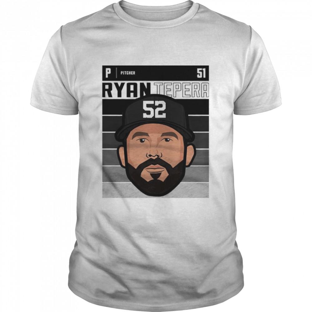 Chicago baseball number 51 Ryan Tepera shirt