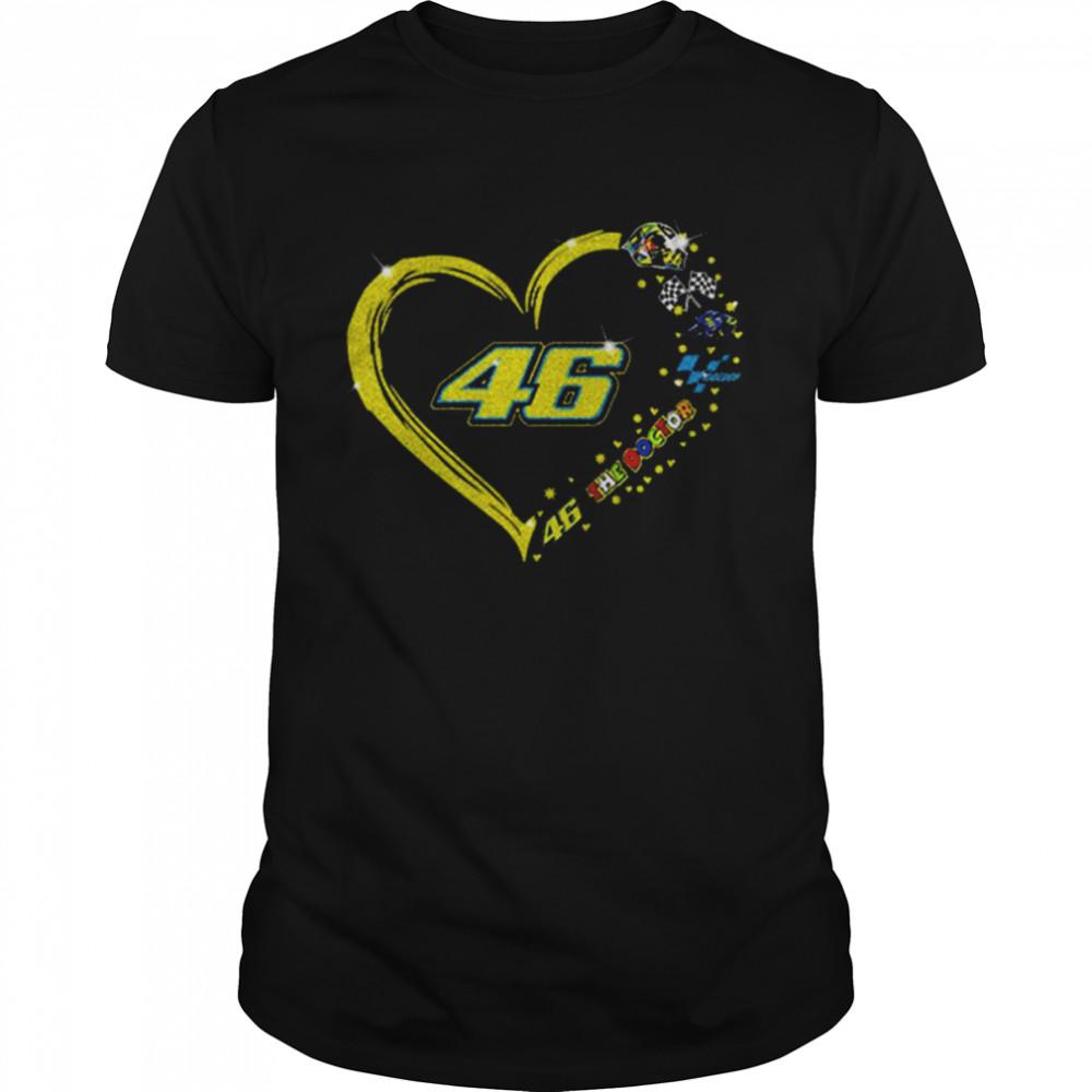 Valentino Rossi 46 The Doctor Motogp Heart Diamond shirt