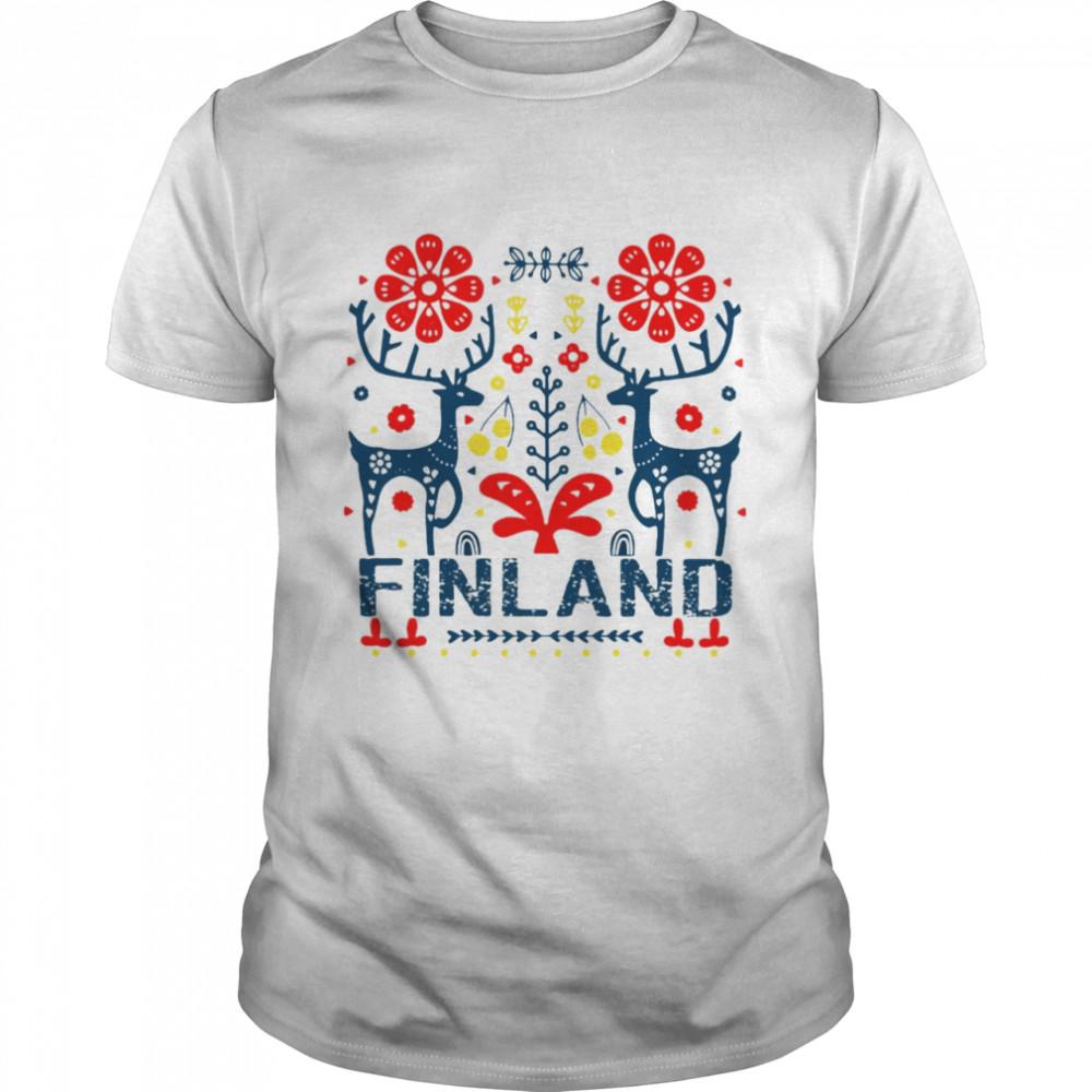 Finland Folk Christmas T-shirt