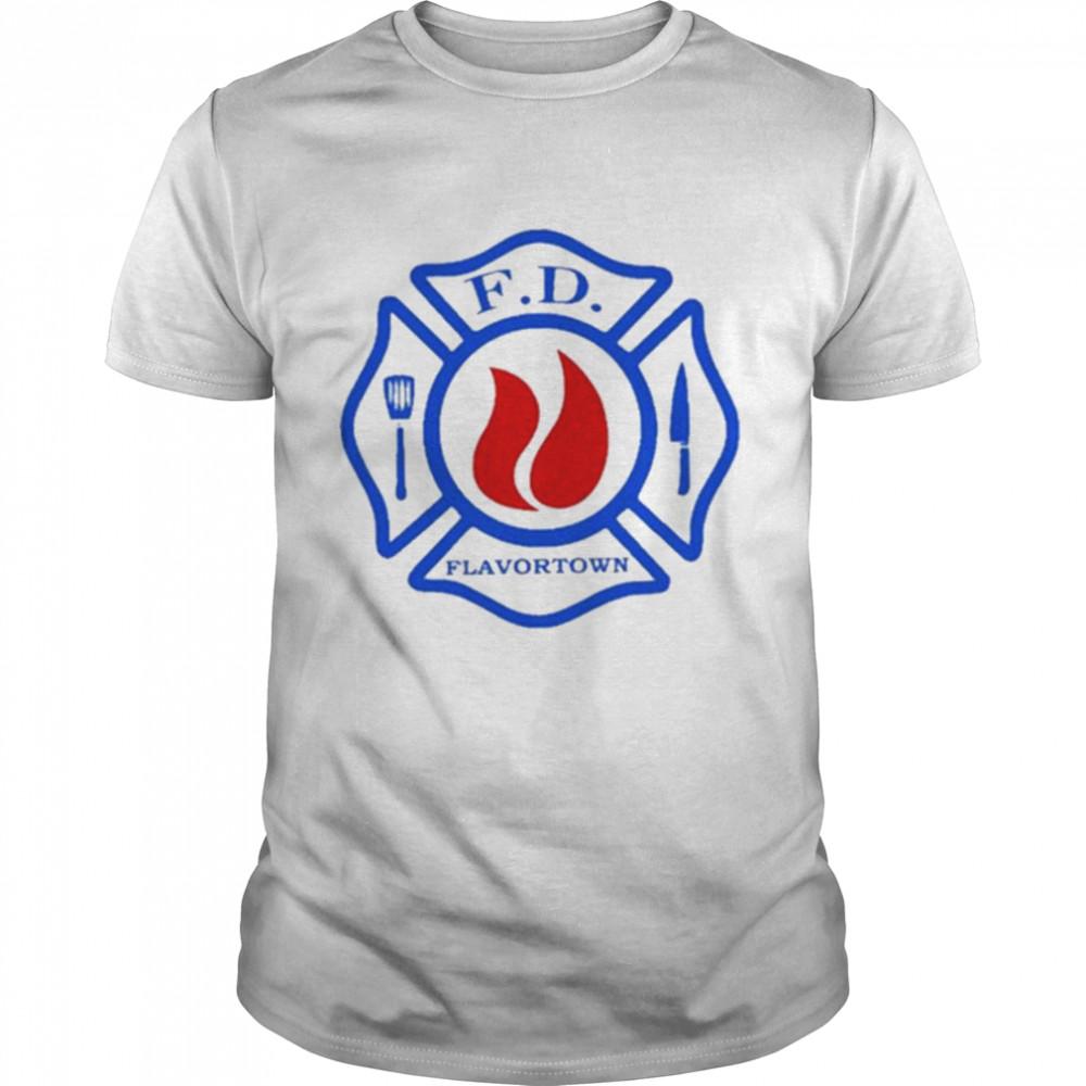Flavortown fire department guy fire shirt