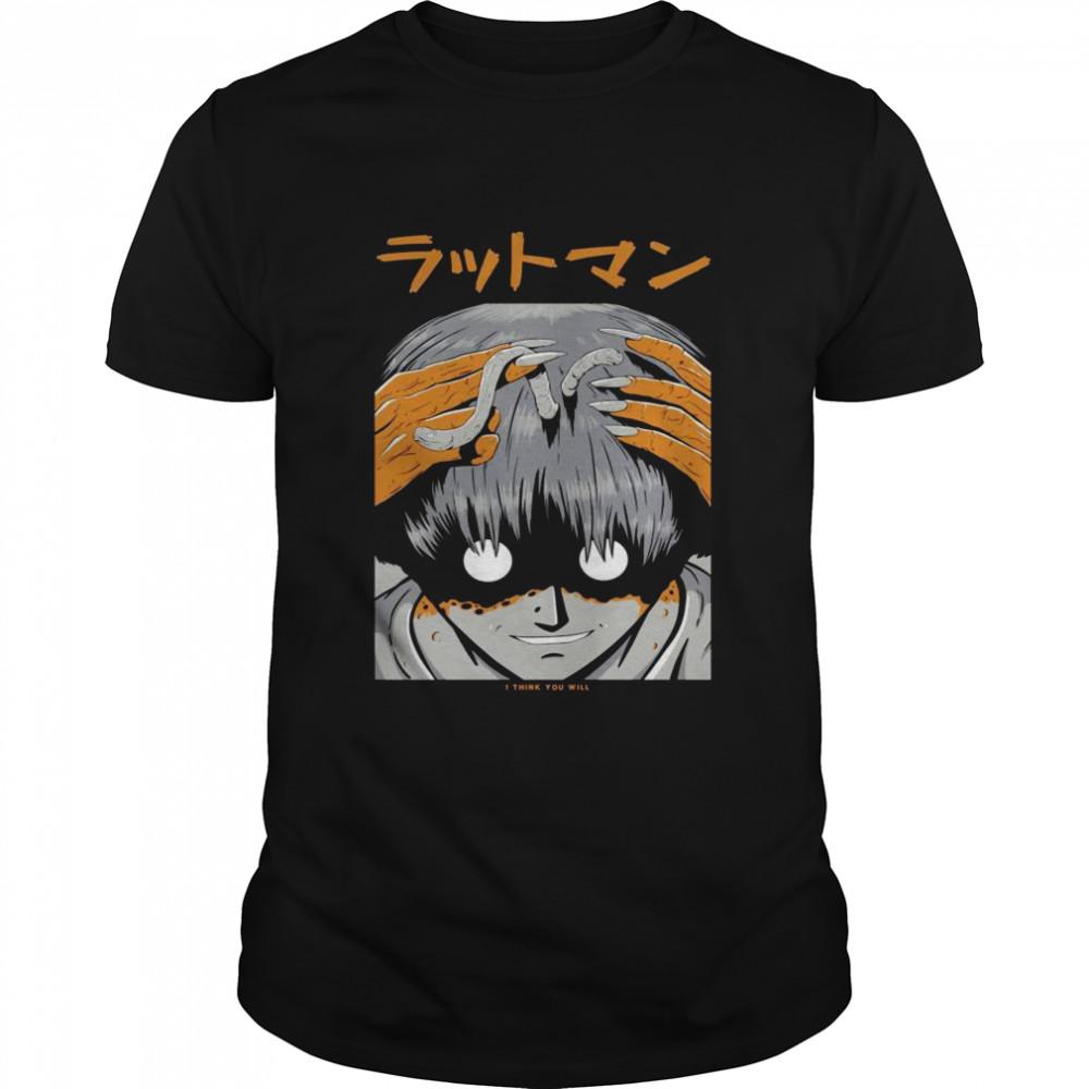 Japanese Halloween Monster Creepy Anime Aesthetic Vaporwave Shirt