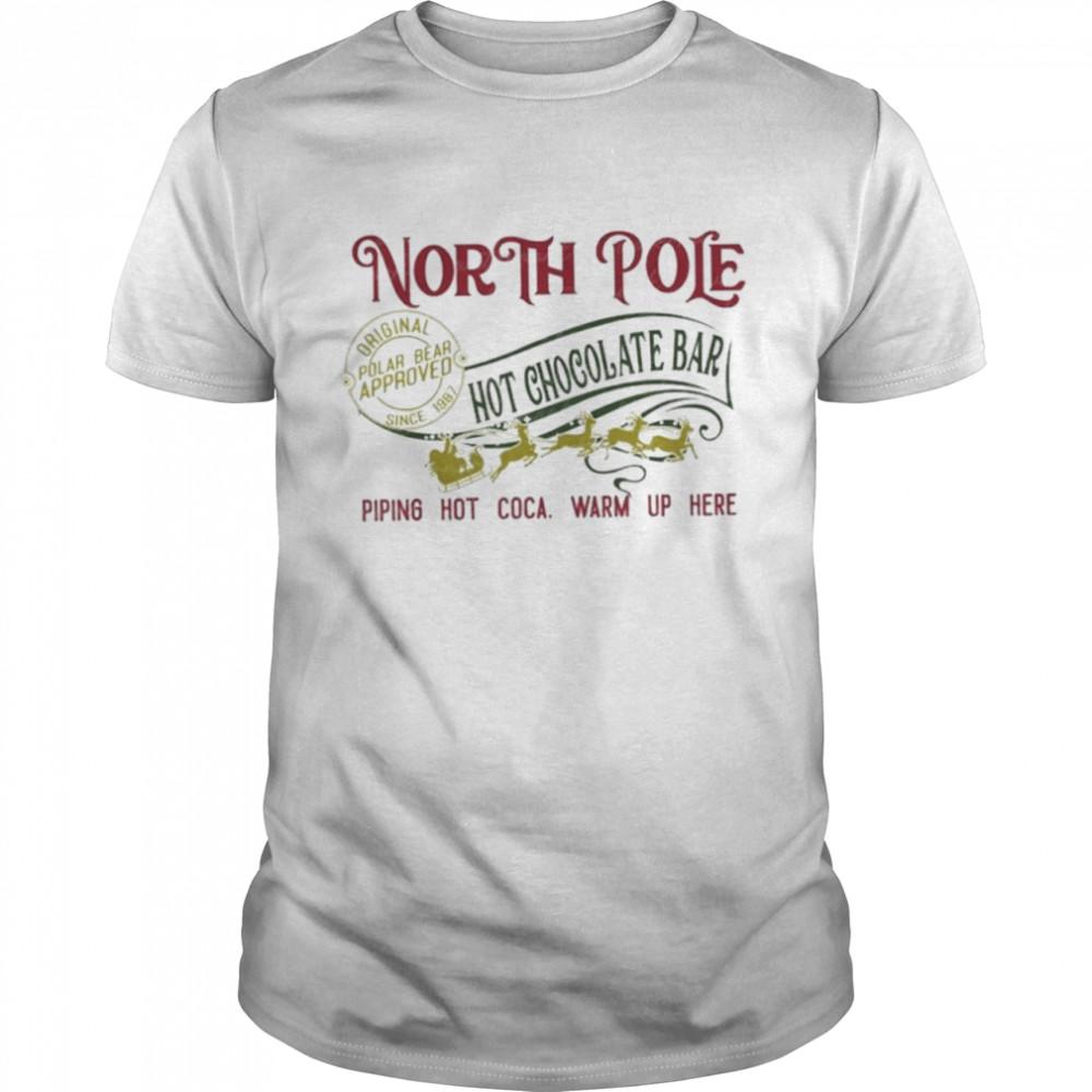 North pole hot chocolate best pajamas merry christmas shirt