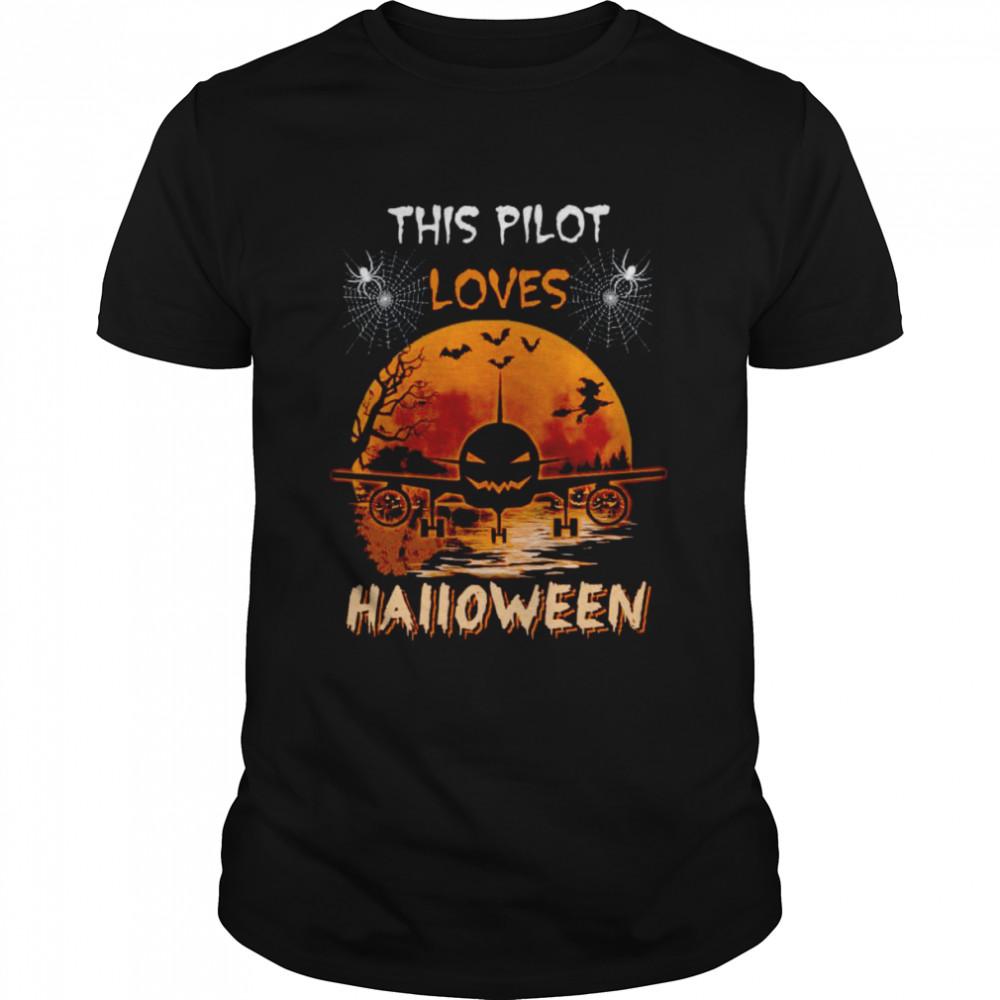 This pilot loves halloween shirt