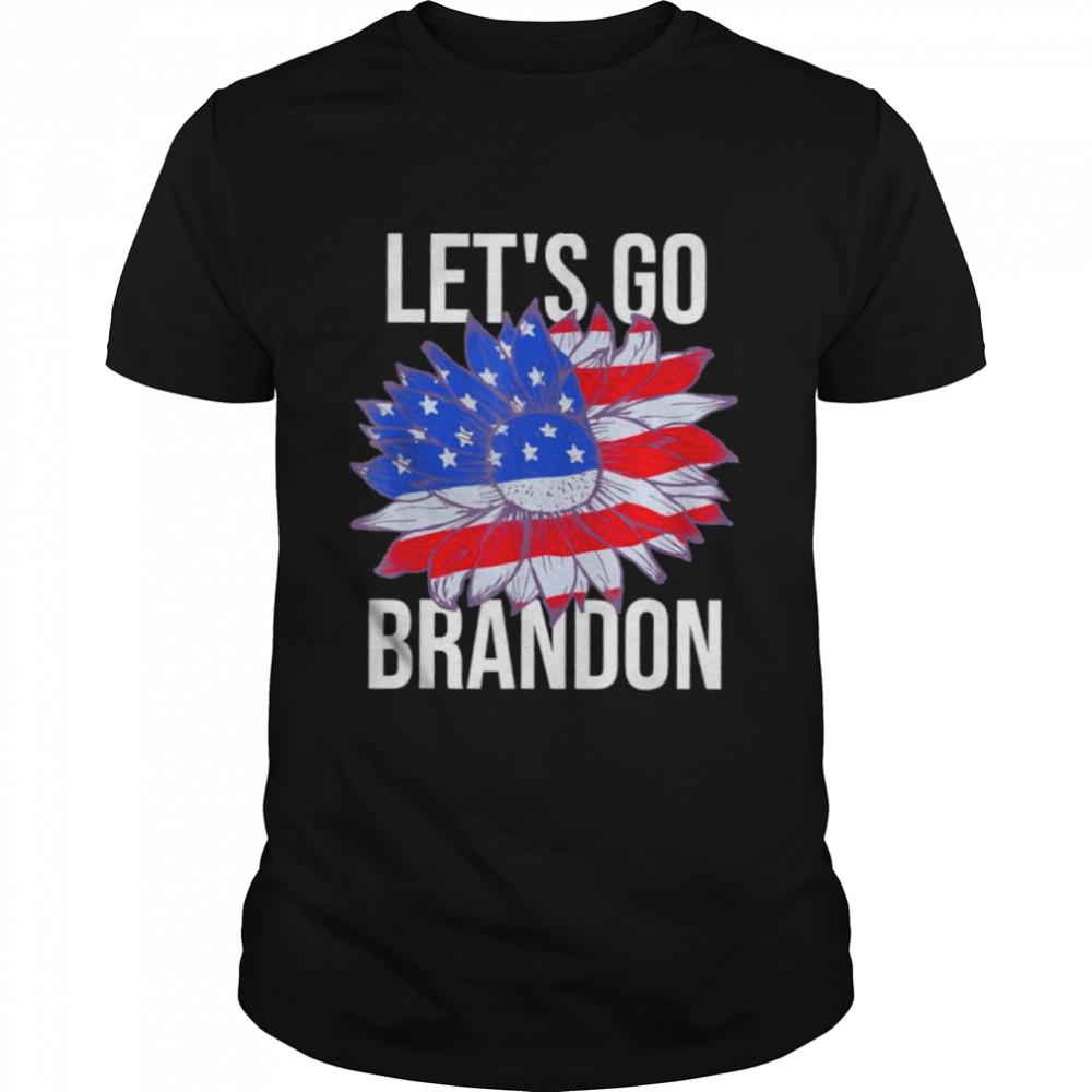 Lets Go Brandon Biden Flower Us Flag shirt