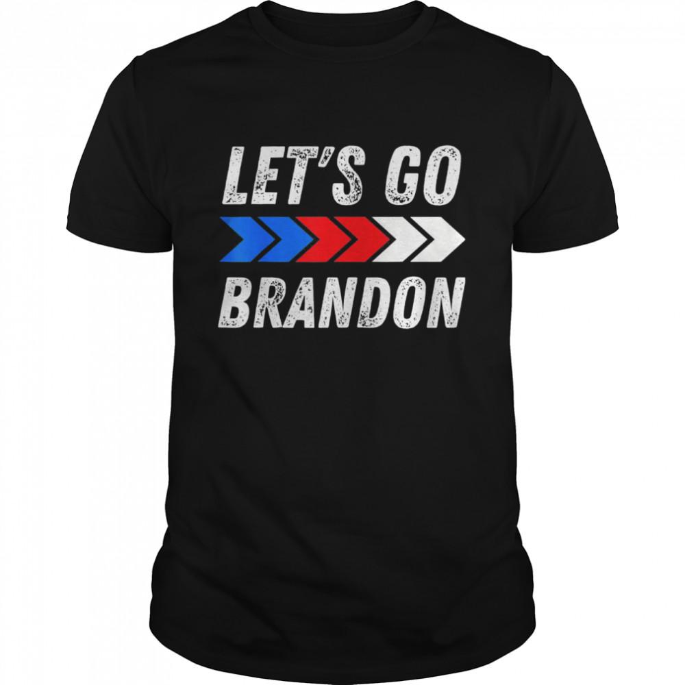 Let's Go Brandon Conservative US Flag Meme Shirt