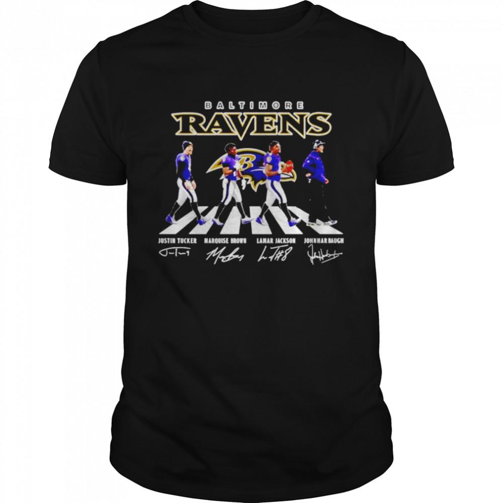 Baltimore Ravens Abbey Road Signatures Shirt