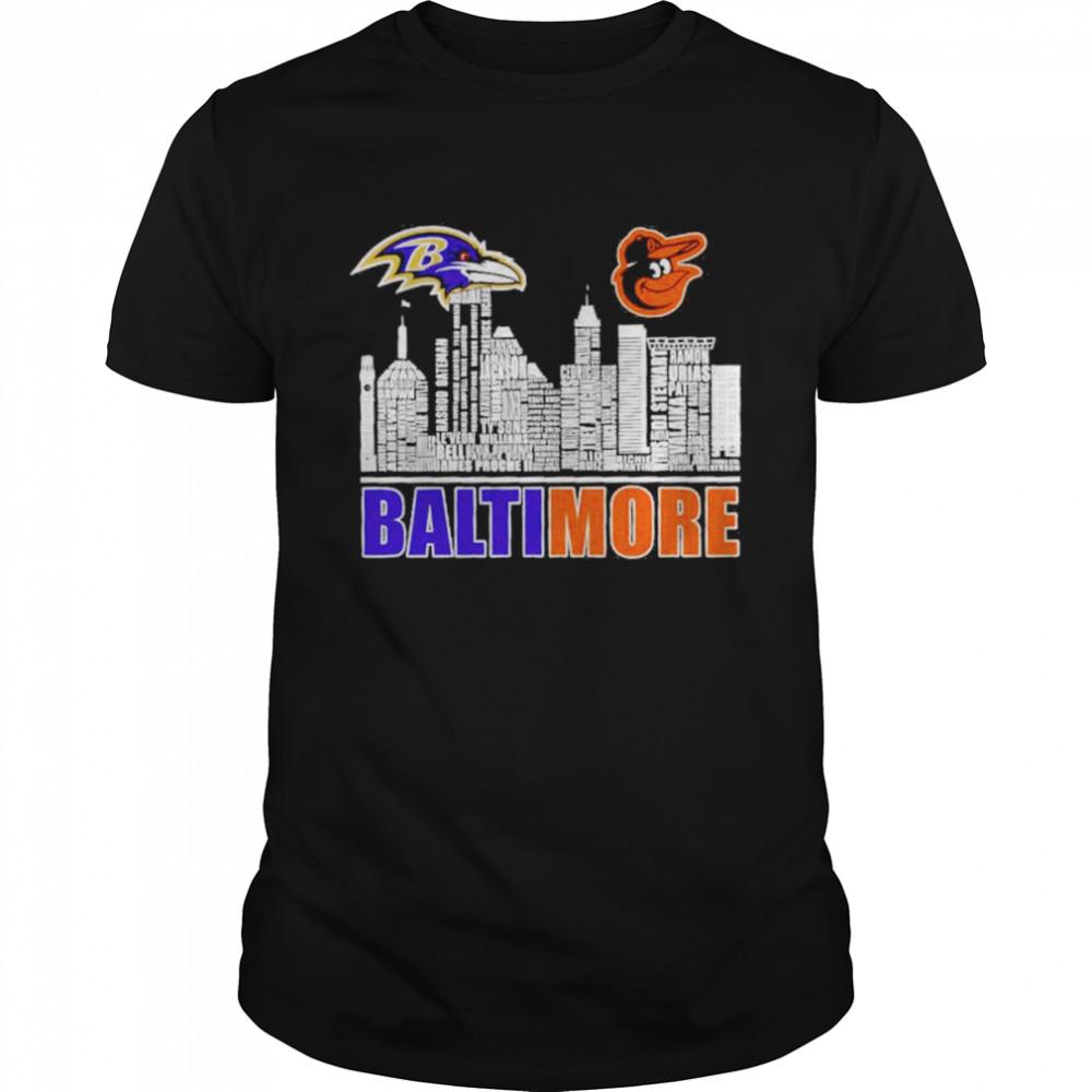 Baltimore Ravens And Baltimore Orioles Baseball Baltimore City Shirt