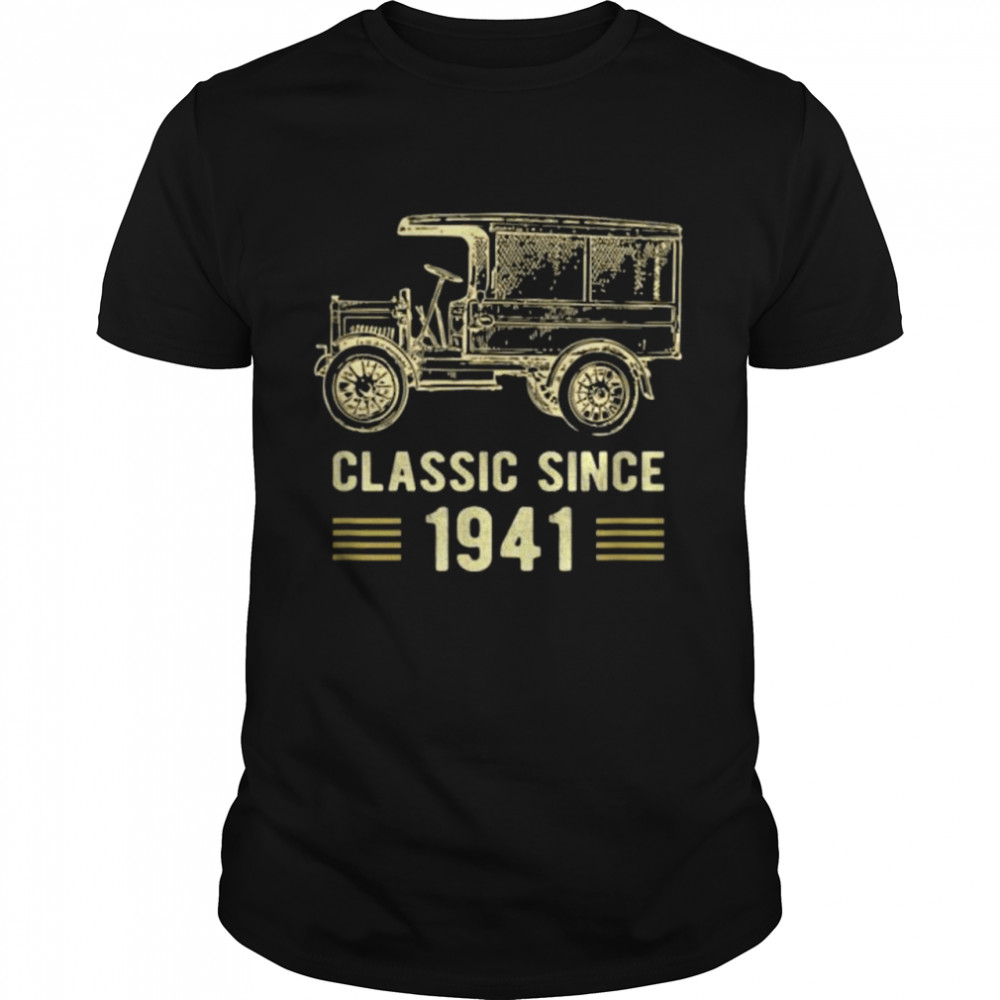 Mens Classic 1941 Vintage Car Truck 81 Year Old Birthday Shirt
