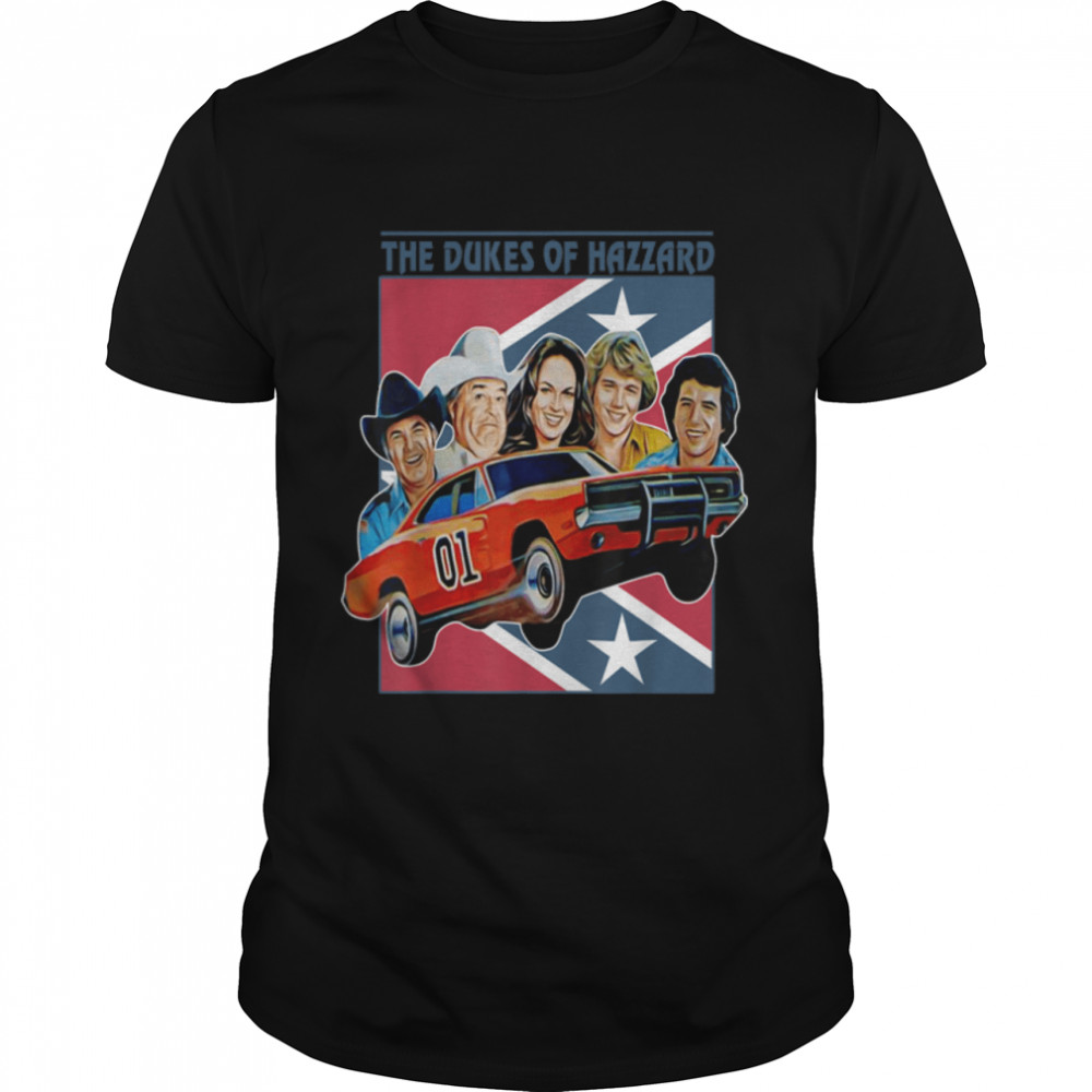 Retro Dukes The Music Of Hazzards Outfits Comedy Characters T-Shirt B09JZNP7MK