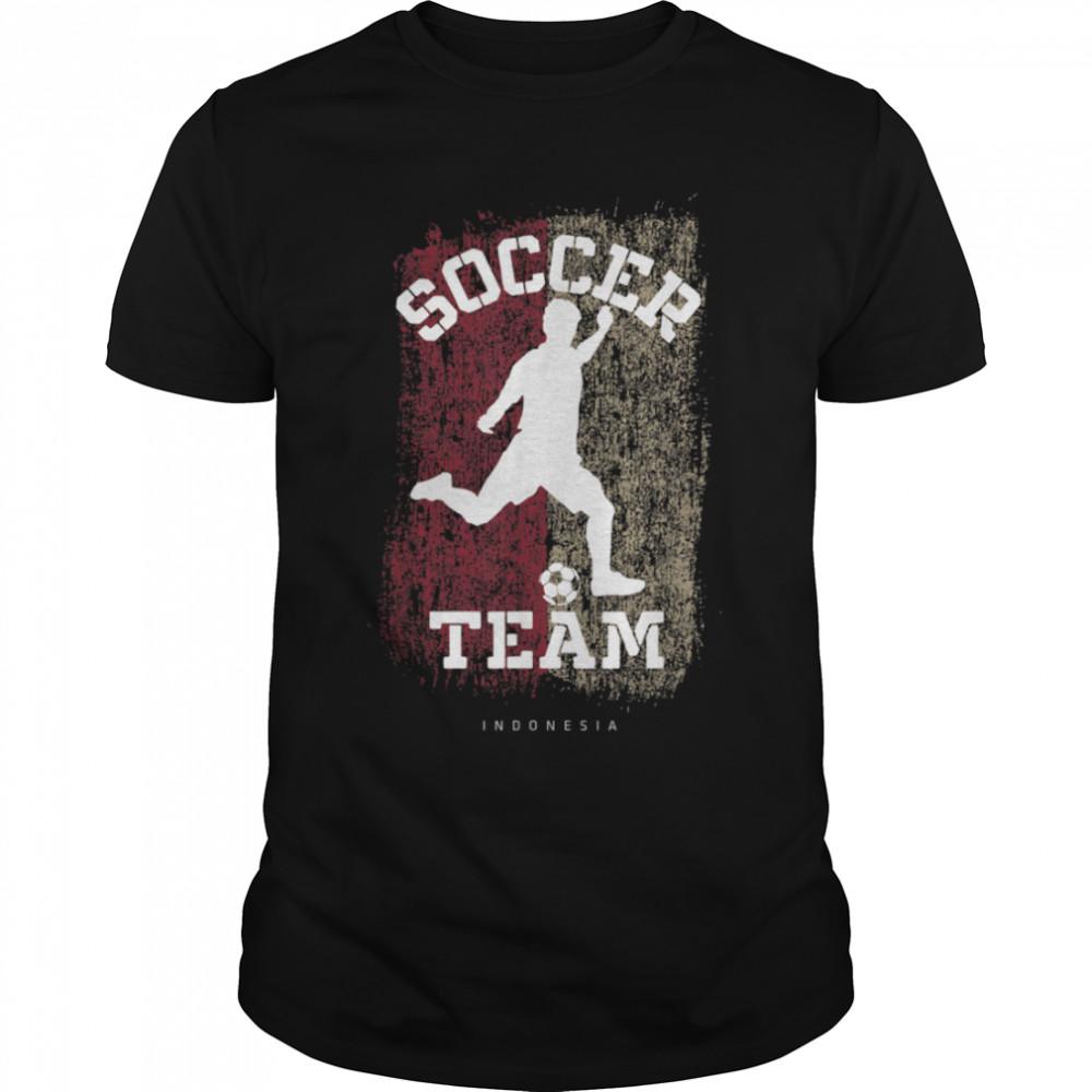 Soccer Indonesia Flag Football Team Soccer Player T-Shirt B09JPFS3TK