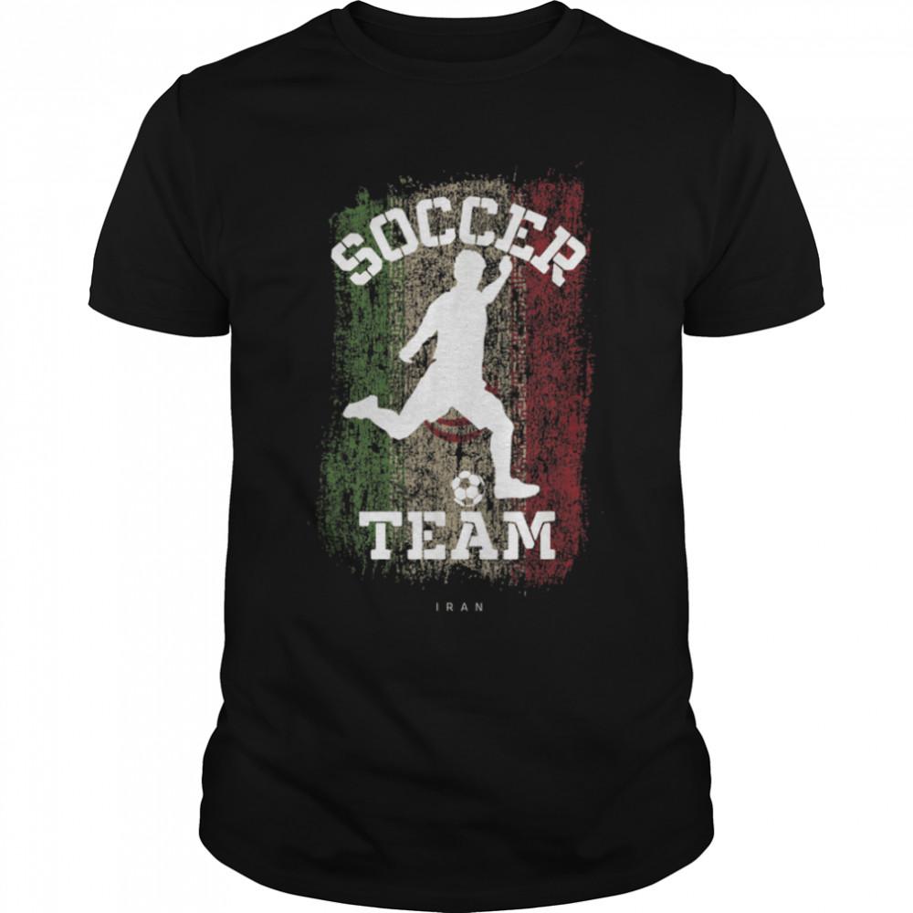 Soccer Iran Flag Football Team Soccer Player T-Shirt B09JPDKMXY