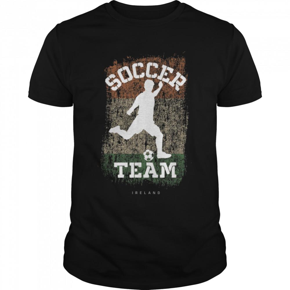 Soccer Ireland Flag Football Team Soccer Player T-Shirt B09JPG3FLS