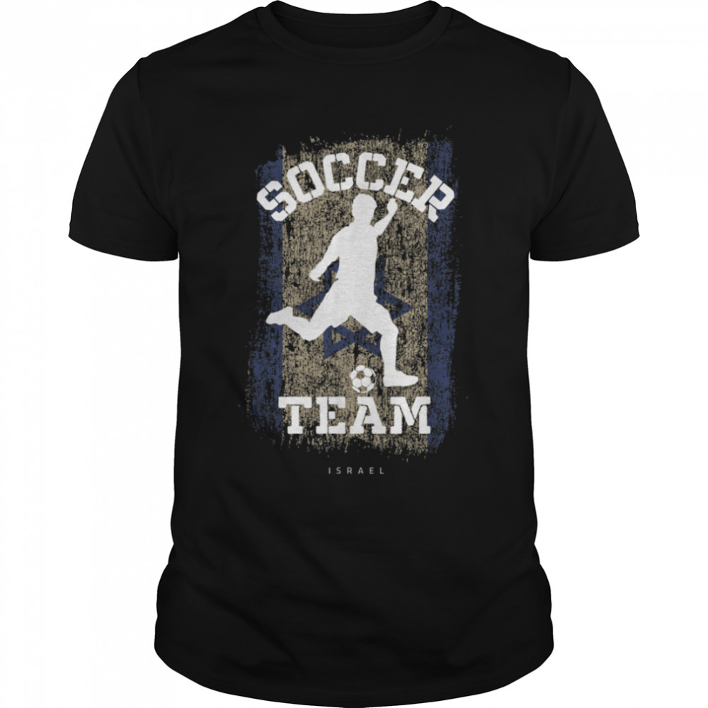 Soccer Israel Flag Football Team Soccer Player T-Shirt B09JPDVR34