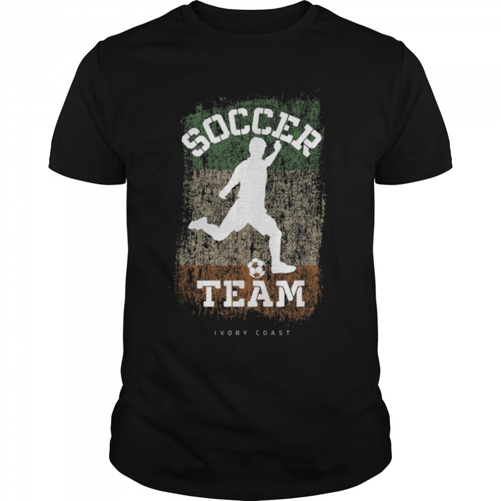 Soccer Ivory Coast Flag Football Team Soccer Player T-Shirt B09JPDN2G3