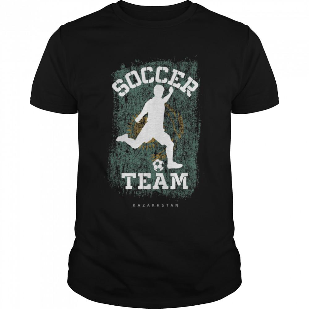 Soccer Kazakhstan Flag Football Team Soccer Player T-Shirt B09JPD9SW1