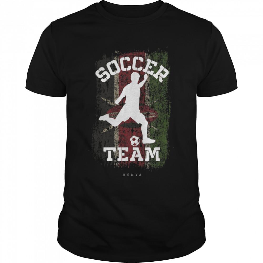 Soccer Kenya Flag Football Team Soccer Player T-Shirt B09JPF5YXC