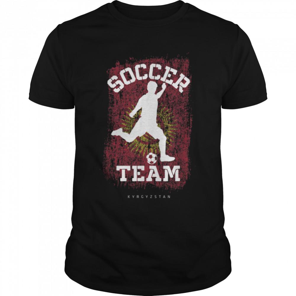 Soccer Kyrgyzstan Flag Football Team Soccer Player T-Shirt B09JPFZWNM