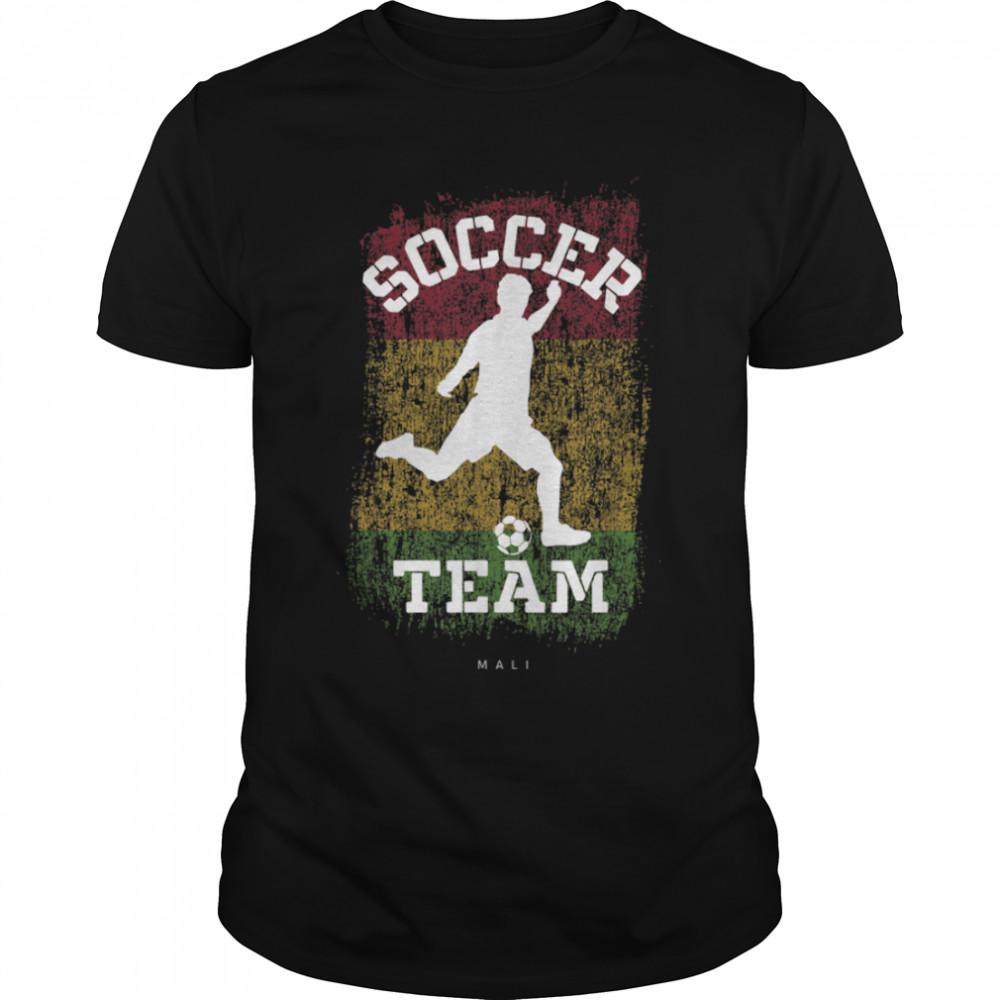Soccer Mali Flag Football Team Soccer Player T-Shirt B09JPCXWN3