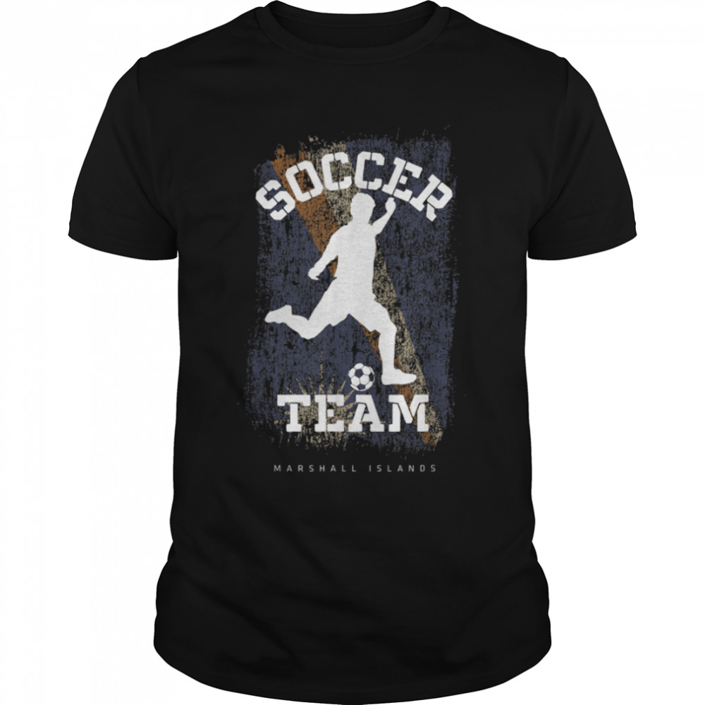 Soccer Marshall Islands Flag Football Team Soccer Player T-Shirt B09JPFKWTZ