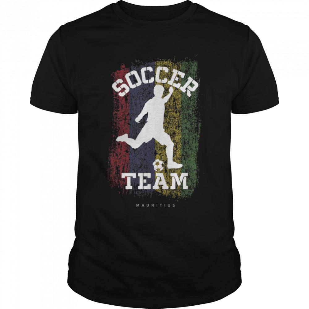 Soccer Mauritius Flag Football Team Soccer Player T-Shirt B09JPDS9BP