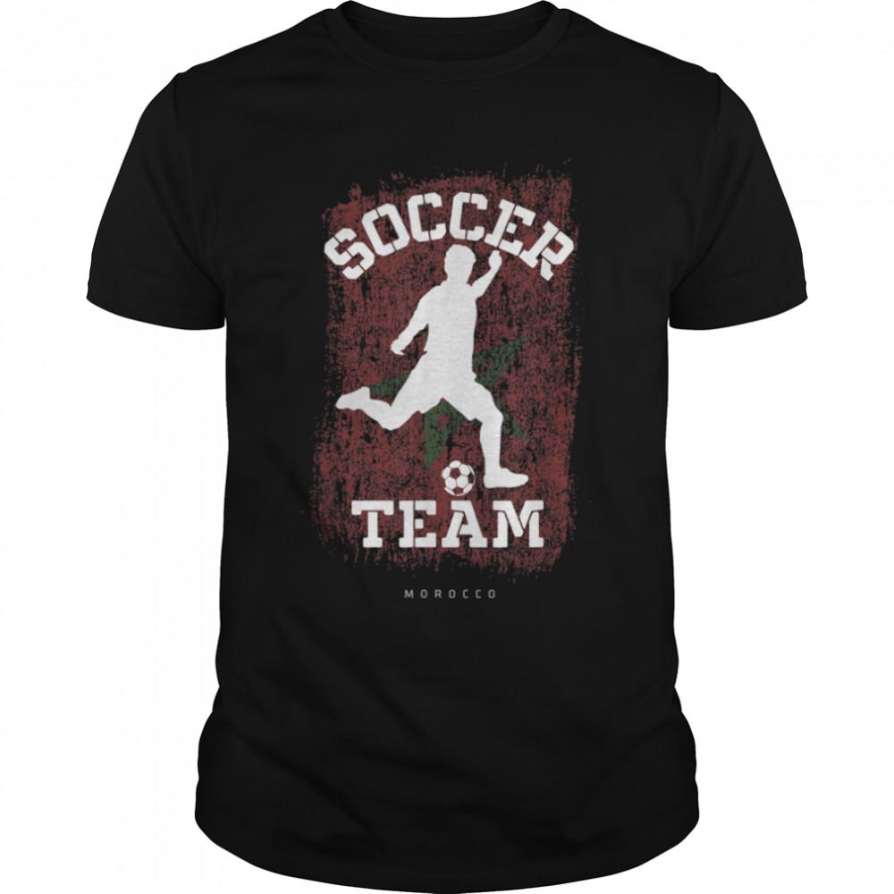 Soccer Morocco Flag Football Team Soccer Player T-Shirt B09JPGWT92