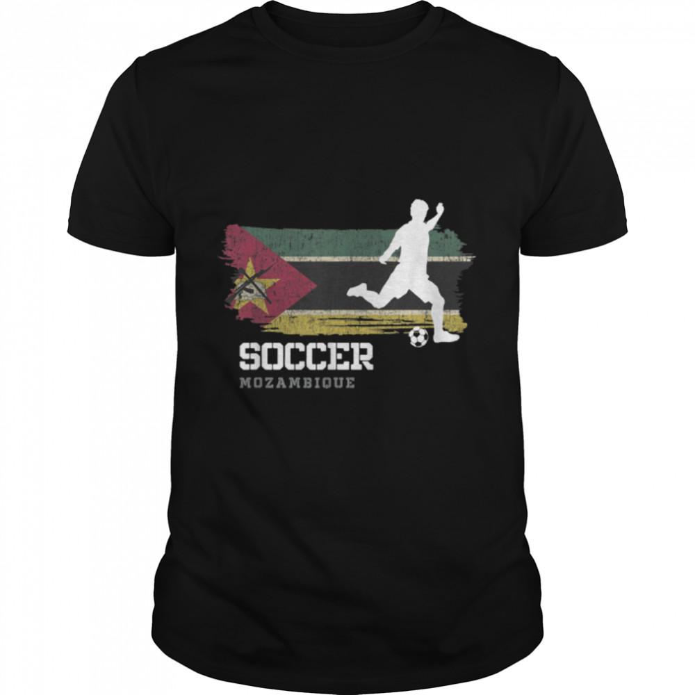 Soccer Mozambique Flag Football Team Soccer Player T-Shirt B09JPF7T5Q