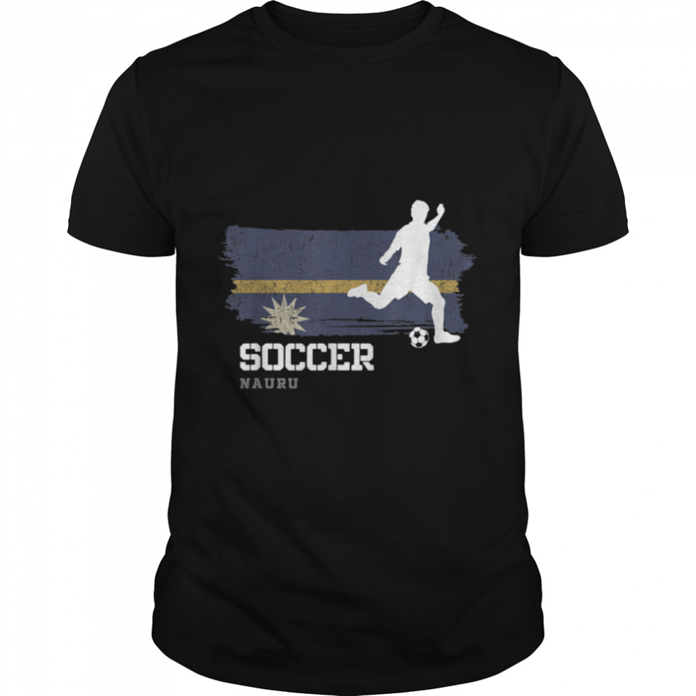 Soccer Nauru Flag Football Team Soccer Player T-Shirt B09JPG1GKW