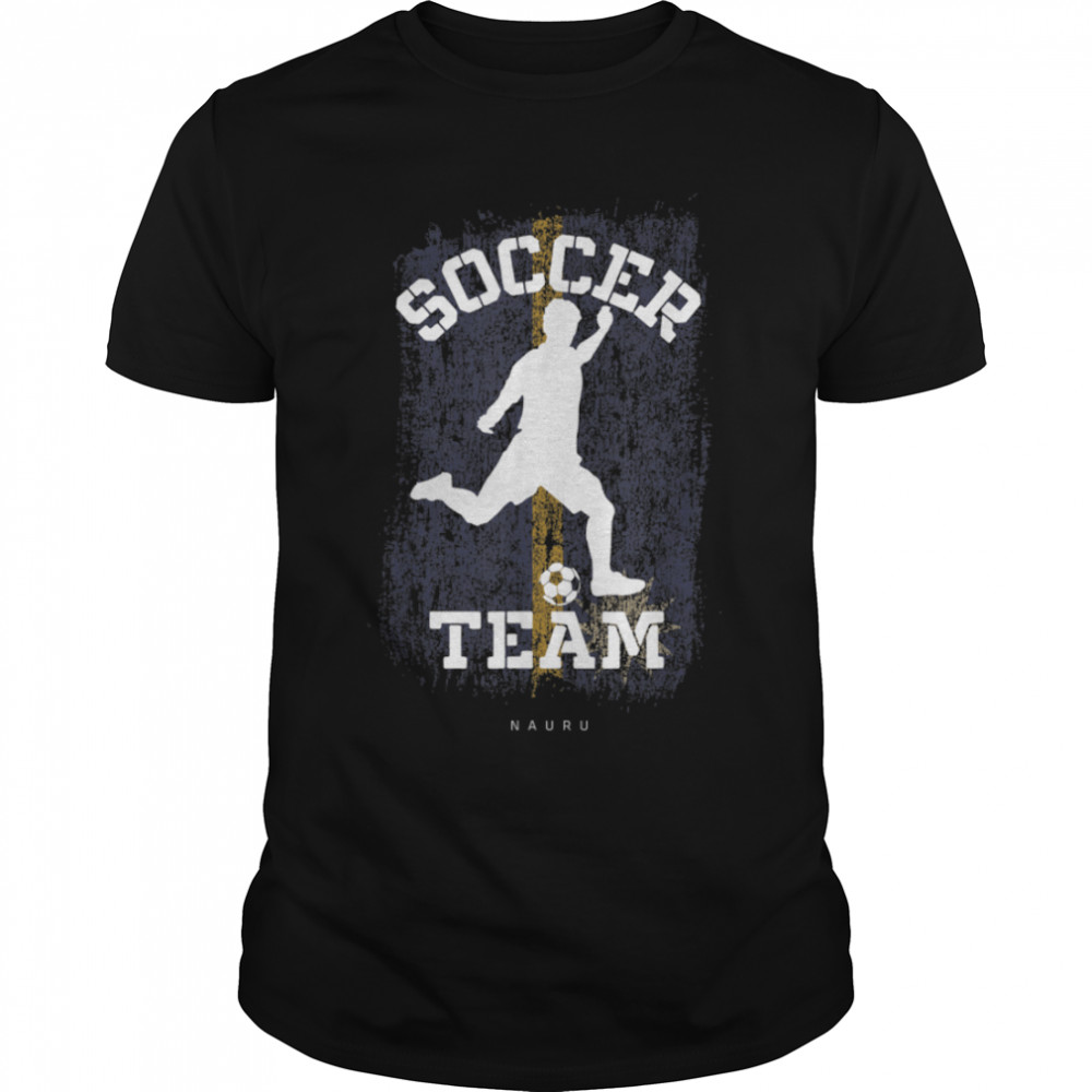 Soccer Nauru Flag Football Team Soccer Player T-Shirt B09JPGBJ4J