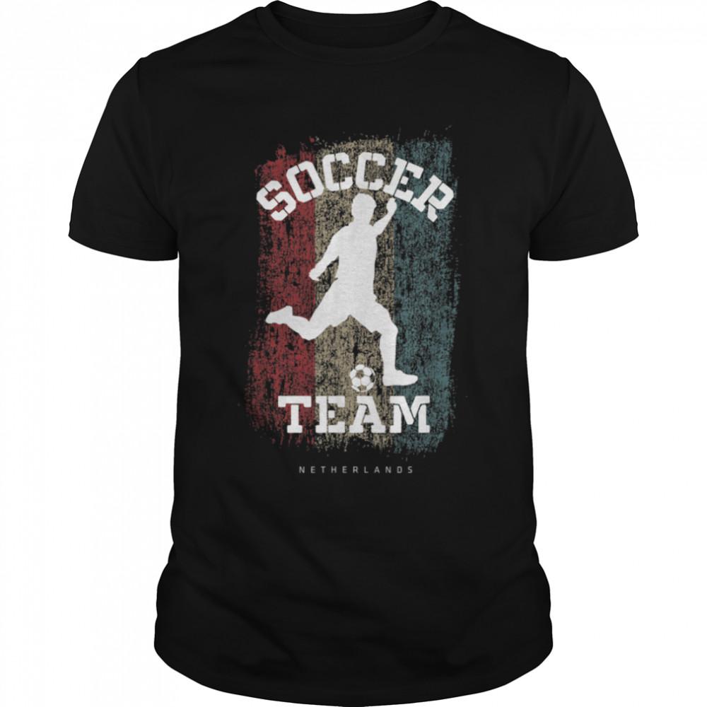 Soccer Netherlands Flag Football Team Soccer Player T-Shirt B09JPD4FQ7