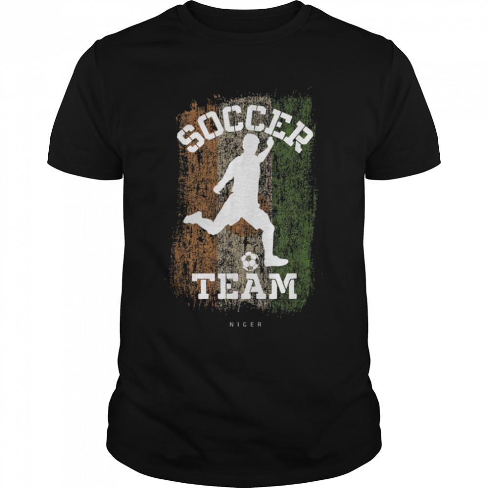 Soccer Niger Flag Football Team Soccer Player T-Shirt B09JPFY5VM
