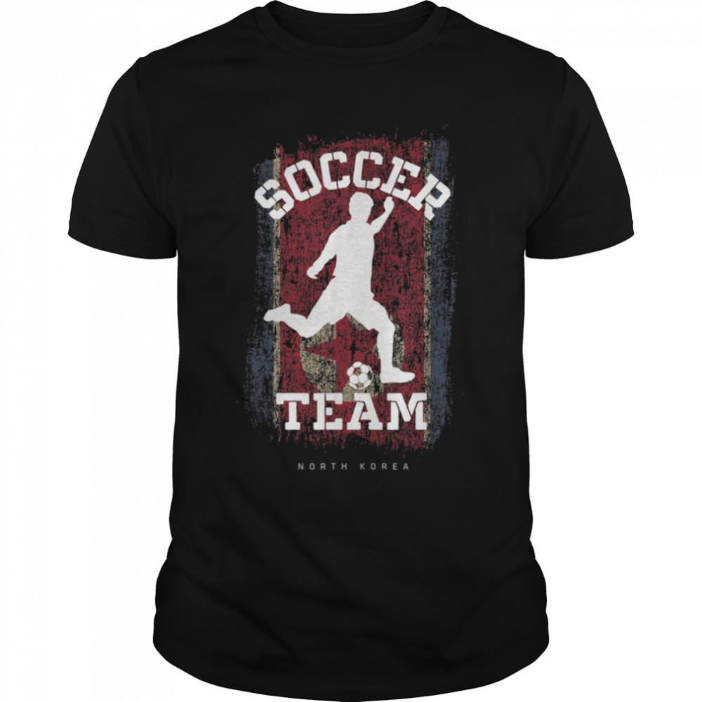 Soccer North Korea Flag Football Team Soccer Player T-Shirt B09JPFR3HR
