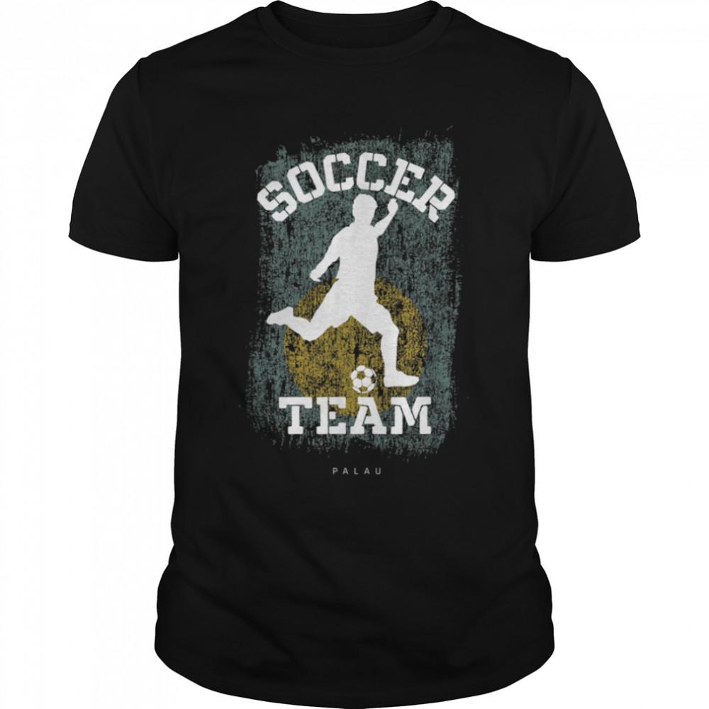 Soccer Palau Flag Football Team Soccer Player T-Shirt B09JPF57PT