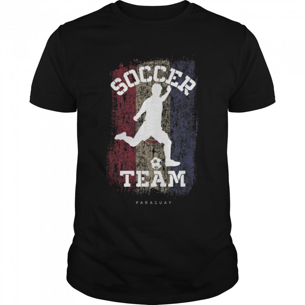 Soccer Paraguay Flag Football Team Soccer Player T-Shirt B09JPF8HD4