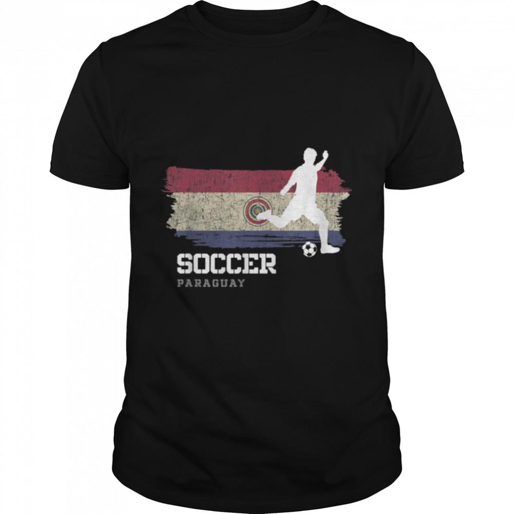 Soccer Paraguay Flag Football Team Soccer Player T-Shirt B09K1ZD41N